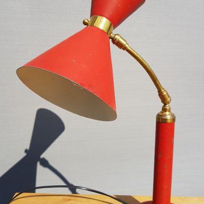 LAMPE ARTICULEE DIABOLO 1950 ROUGE - 170 euros