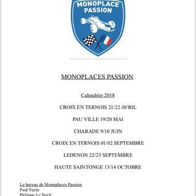 le calendrier Formule Ford de monoplace passion