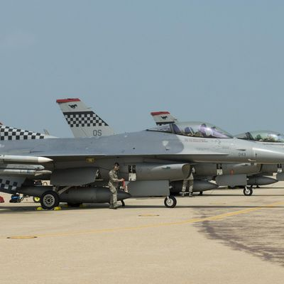 "General Dynamics F-16s ""Fighting Falcon"" - 51th Tactical Fighter Wing - 36th Fighter Squadron ""The Fabulous Flying Fiends"" - 100th anniversary"