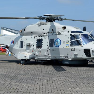 """NH Industries NH90 NFH (NATO Frigate Helicopter) - 860 squadron - """"Drug Buster"""" 2017 logo"""
