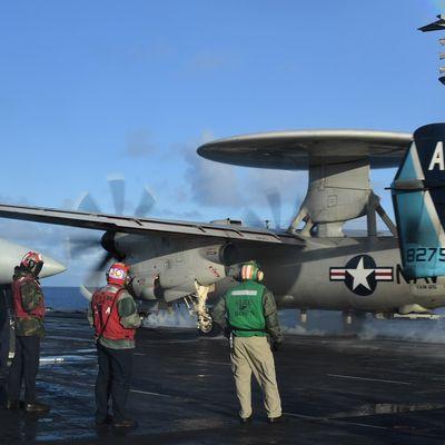 "Northrop Grumman E-2D Advanced ""Hawkeye"" - Carrier Airborne Early Warning Squadron 126 (VAW-126) ""Seahawks"" - CAG bird 2018"