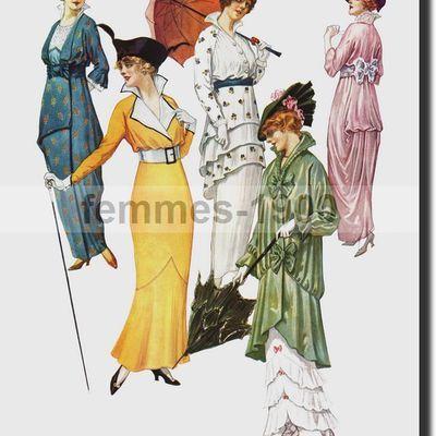 Les robes de 1914 .