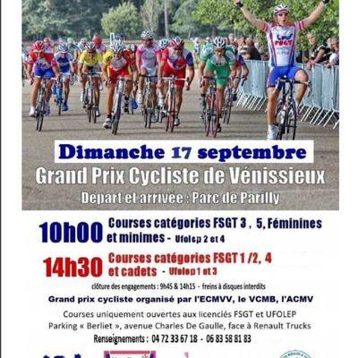 Grand Prix de la Ville de Vénissieux 17 septembre