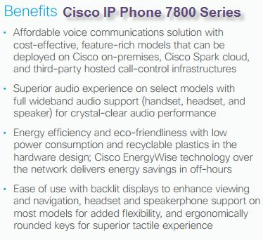 When is the Best Time to Choose Buy Cisco IP Phone 7800 Series?