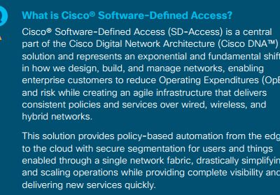 What SD-Access Services Can Do for You?