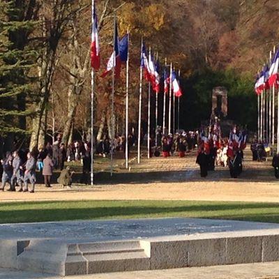 Commémorations du 11 novembre 2016 dans la clairière de l'armistice à Rethondes.