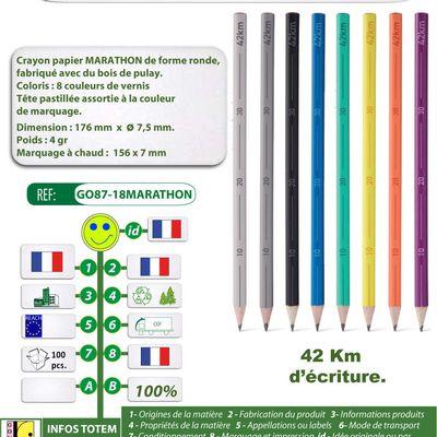 Crayon papier capacité d'écriture de 42 km - Modèle Marathon
