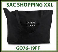 Sac shopping XXL très grande taille avec zip - GO76-19FF