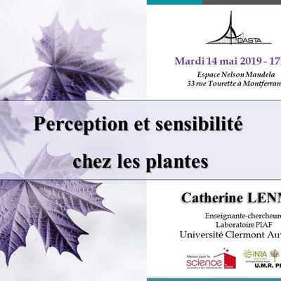 Conférence sur la sensibilité des plantes