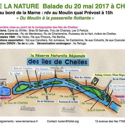 Fête de la Nature 2017 : promenade, berges des îles de Chelles
