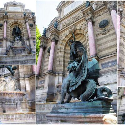 La fontaine Saint-Michel à Paris