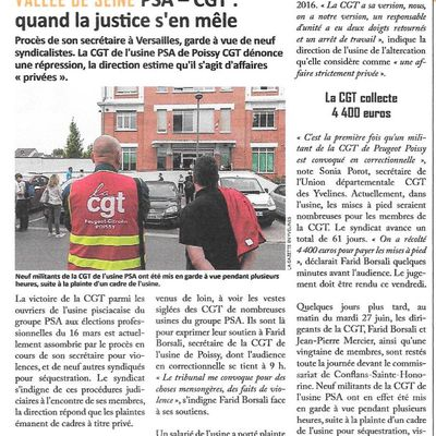 La Gazette des Yvelines. PSA-CGT: quand la justice s'en mêle
