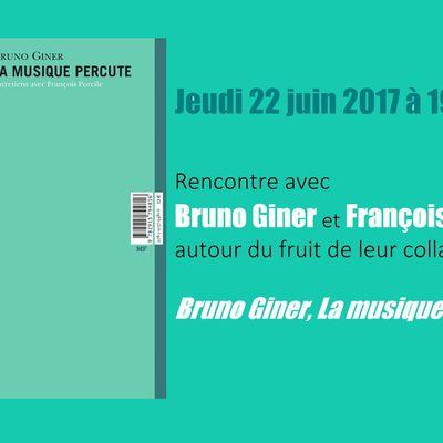 Bruno Giner et François Porcile à Musicalame !