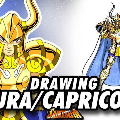 [Saint Seiya] Shura CAPRICORN Gold Saint ! Speed Drawing ✏️ Comic Book Style ✏️ ♑️