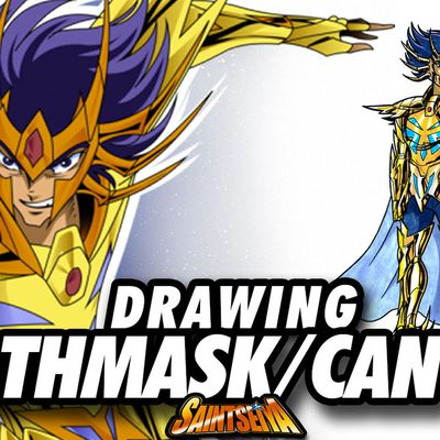 [Saint Seiya] Deathmask CANCER Gold Saint ! Speed Drawing ✏️ Comic Book Style ✏️ ♋