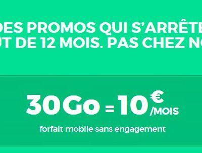 Opérateur mobile : RED SFR sort le forfait 30 Go sans engagement pour 10 euros