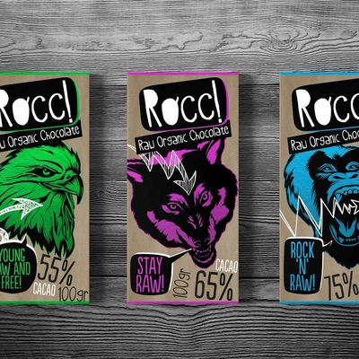 Packaging : Rocc! Raw Organic Chocolate, la plaquette de chocolat qui déchire