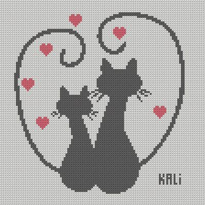 Grille Chat coeur