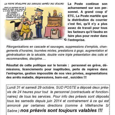 Préavis de grève les 29 et 31 Octobre !!!