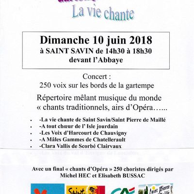 """participation à """"Gartempe en choeurs"""" le 10 juin"""