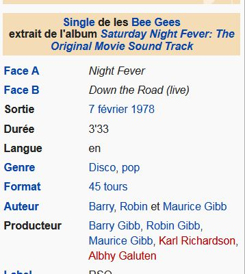 07 février 1978: Night Fever