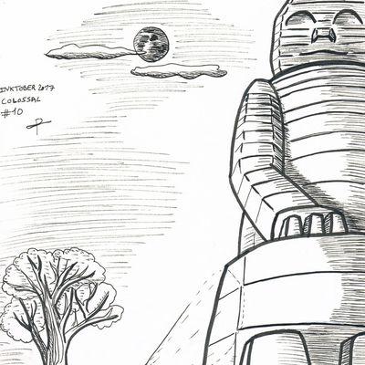 [Dessin] inktober 10 «colossal»