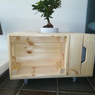 DIY Table basse avec des caisses en bois