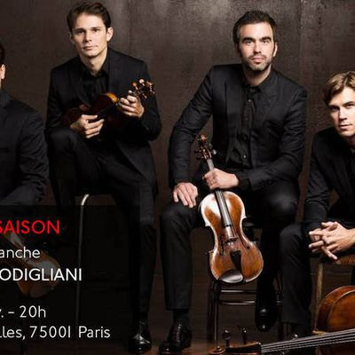 Le Quatuor Modigliani à l'église St-Leu-Saint-Gilles Paris 1er
