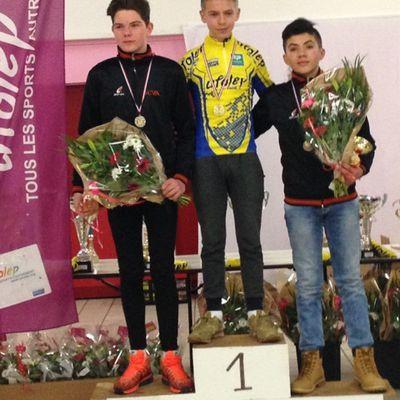 Dimanche 15 janvier - Pasly (02) - Championnat Régional de Cyclocross Ufolep : 2 titres pour Loris et Laurent !
