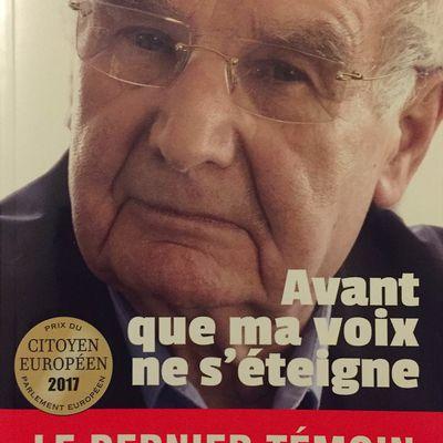 """""""Avant que ma voix ne s'éteigne"""" de Robert Hébras - Elytel éditions"""