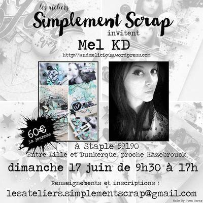 Atelier avec Mel KD le dimanche 17 juin {Les Ateliers Simplement Scrap}