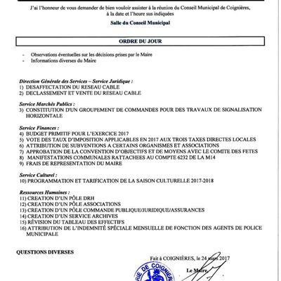 Procès-verbal du Conseil Municipal du 31 mars 2017