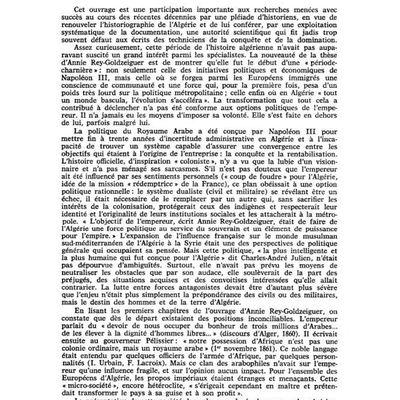 Le royaume arabe, la politique algérienne de Napoléon III, 1861 - 1870, Annie Rey goldzeiguer