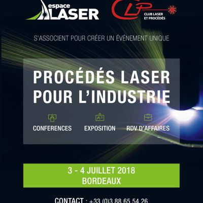 Procédés Laser pour L'industrie - Save the Date !