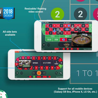 La nouvelle interface de mobile roulette live de Vivo Gaming