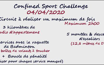 [04/04/2020] Confined Sport Challenge