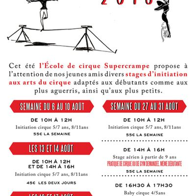 Stage Été 2018 - Août