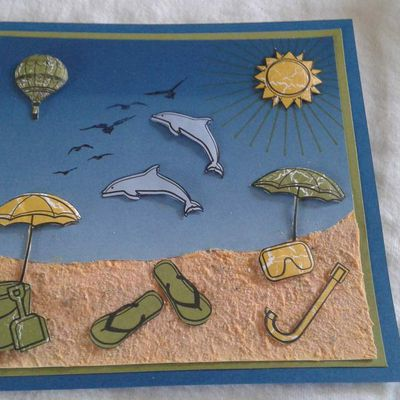 STAMPIN'UP  PATE STRUCTURE CARTES VACANCES