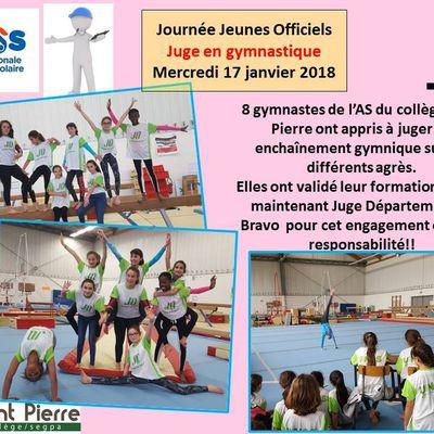 Journée UNSS_Jeune officiel_Juge gymnastique_certification départementale