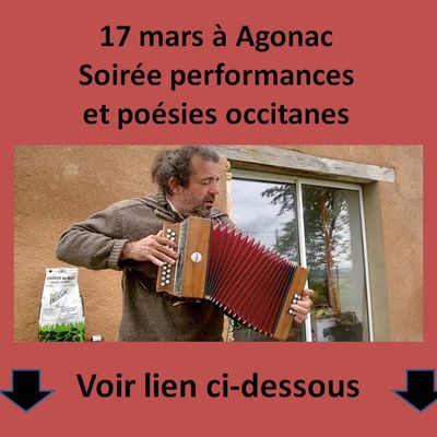 17 mars à AgonacSoirée performances et poésies occitanes