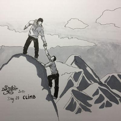 #inktober2017 - Day 27 : Climb