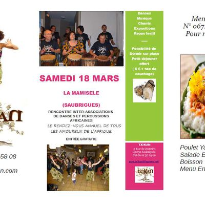 Rencontre Inter-Associations Danse et Percussions africaines