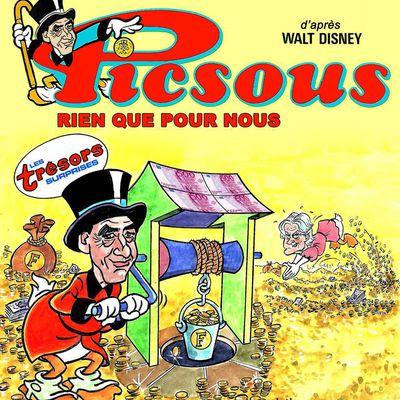 """Fillon """"Picsous"""" d'après la couverture de """"Picsou magazine"""" n°141 de novembre 1983"""