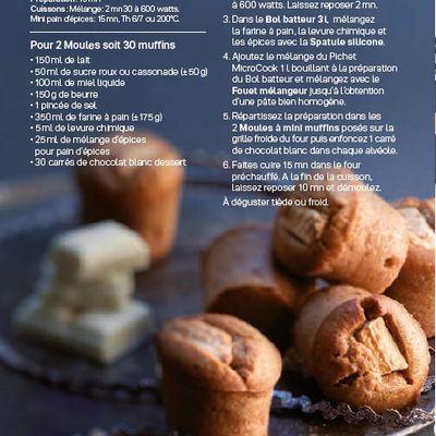 Muffins épicés au chocolat blanc