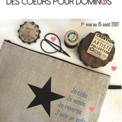 Des étoiles et des coeurs pour Dominos ...