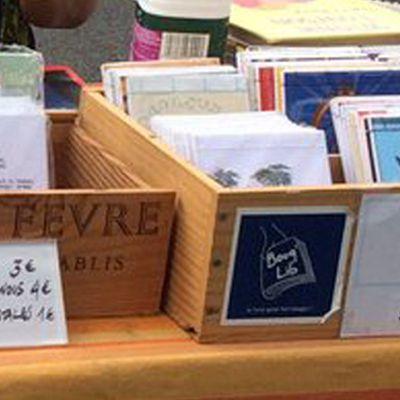 Vente des p'tits carnets Bouq'Lib' et des marque-pages / samedi 17 décembre