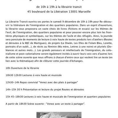 Lecture de Rénia Aouadène à la Librairie Transit de Marseille