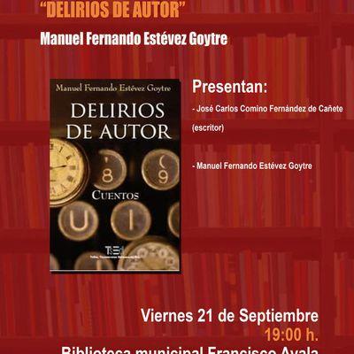 Presentación del libro de cuentos Delirios de autor en la biblioteca Francisco Ayala de Granada