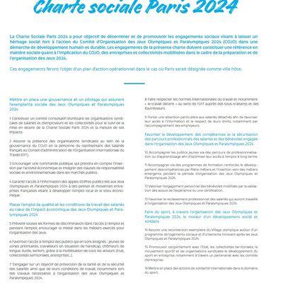 Charte sociale Paris 2024