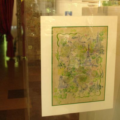 Mon exposition de marbrures à Paris